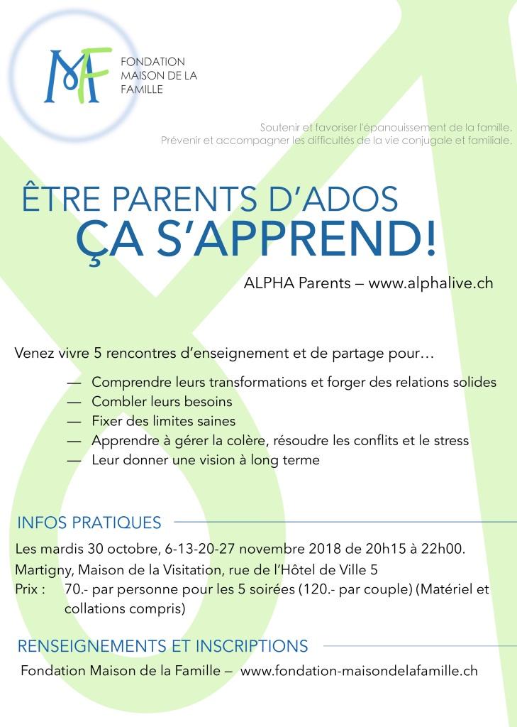 Flyer parents d'ados 2018
